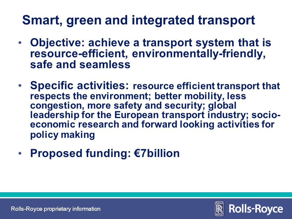 Smart, green and integrated transport