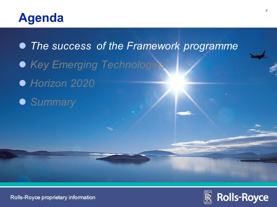 Agenda The success of the Framework programme