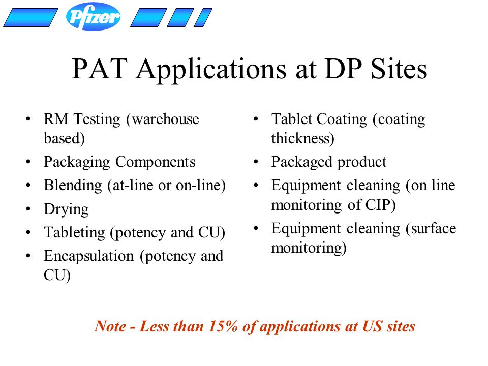PAT Applications at DP Sites
