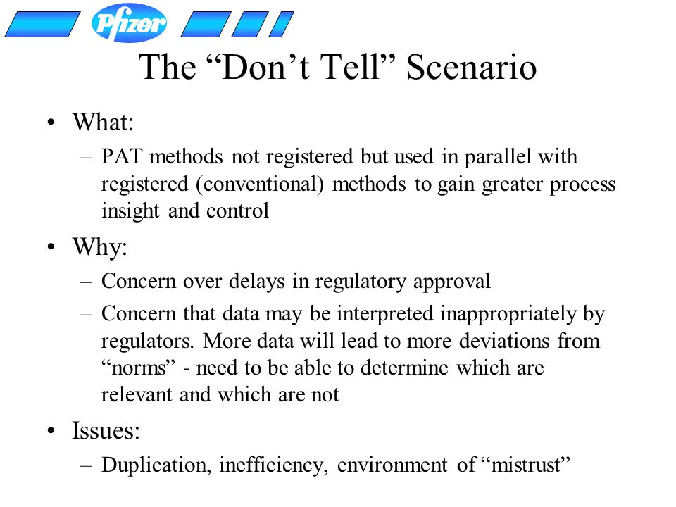 The Don't Tell Scenario
