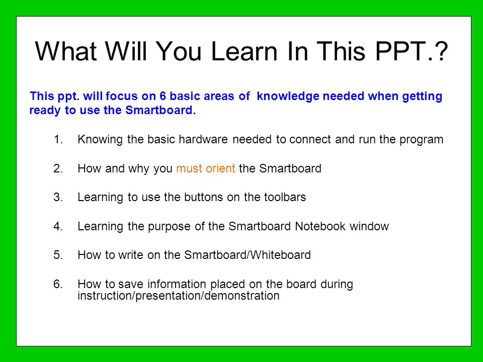 What Will You Learn In This PPT.