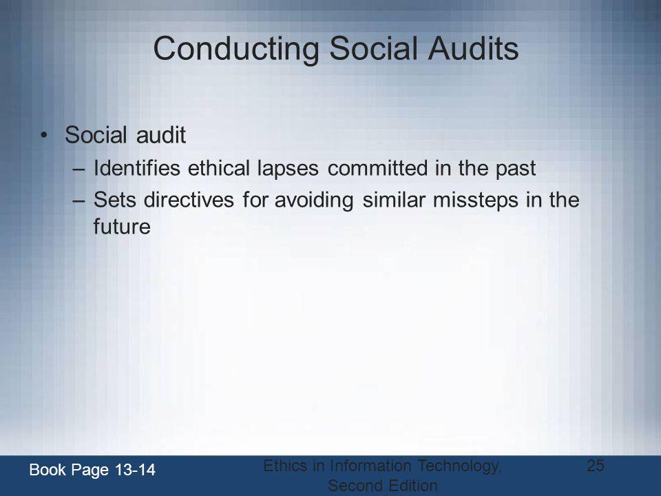 Conducting Social Audits