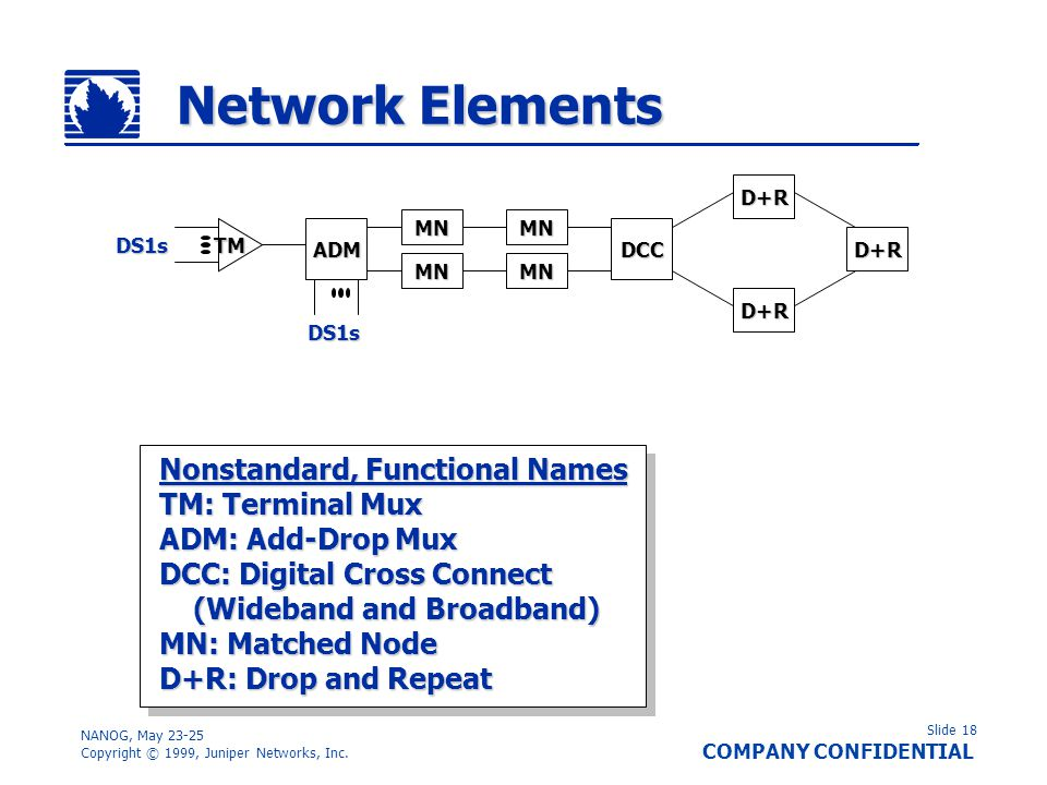 Network Elements Nonstandard, Functional Names TM: Terminal Mux