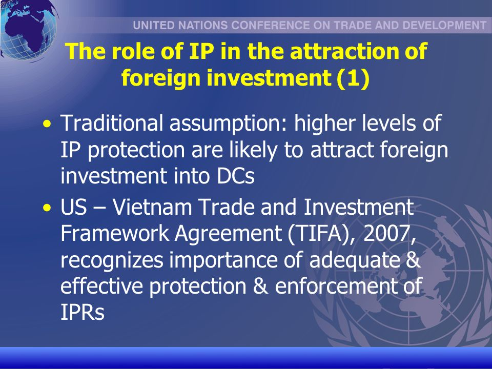 The role of IP in the attraction of foreign investment (1)