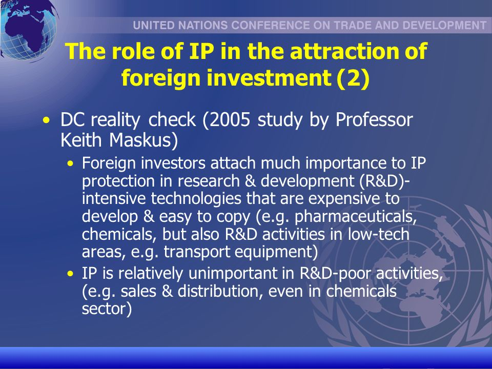 The role of IP in the attraction of foreign investment (2)