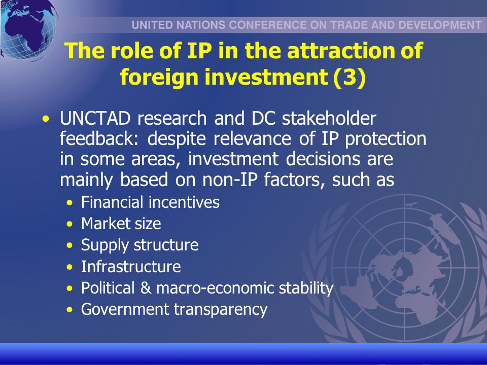 The role of IP in the attraction of foreign investment (3)
