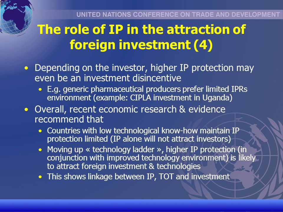The role of IP in the attraction of foreign investment (4)