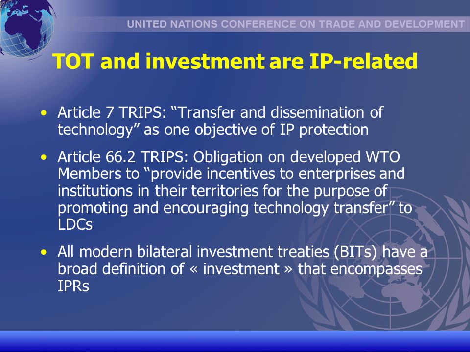 TOT and investment are IP-related