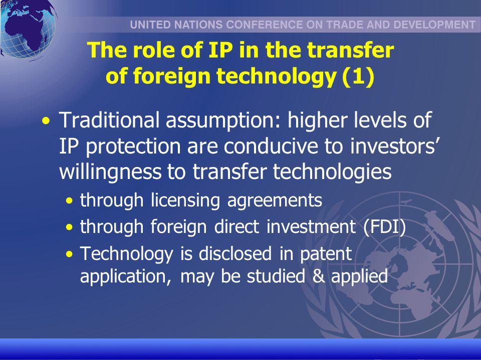 The role of IP in the transfer of foreign technology (1)