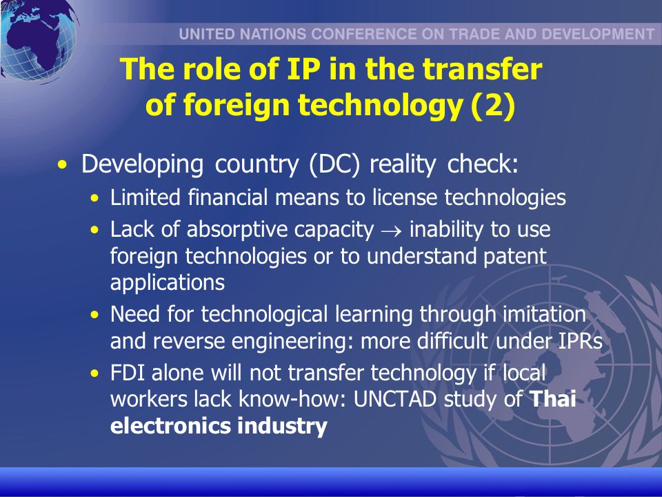 The role of IP in the transfer of foreign technology (2)