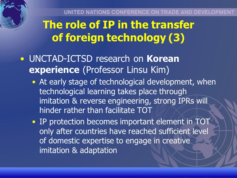 The role of IP in the transfer of foreign technology (3)