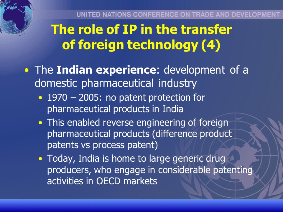 The role of IP in the transfer of foreign technology (4)