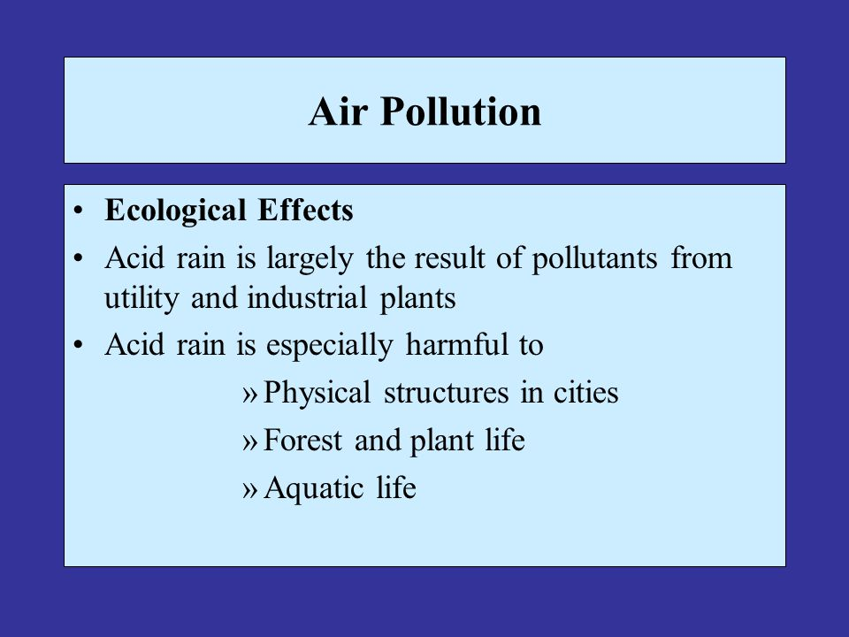 Air Pollution Ecological Effects