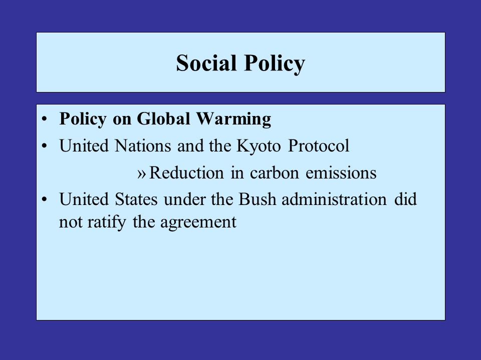 Social Policy Policy on Global Warming