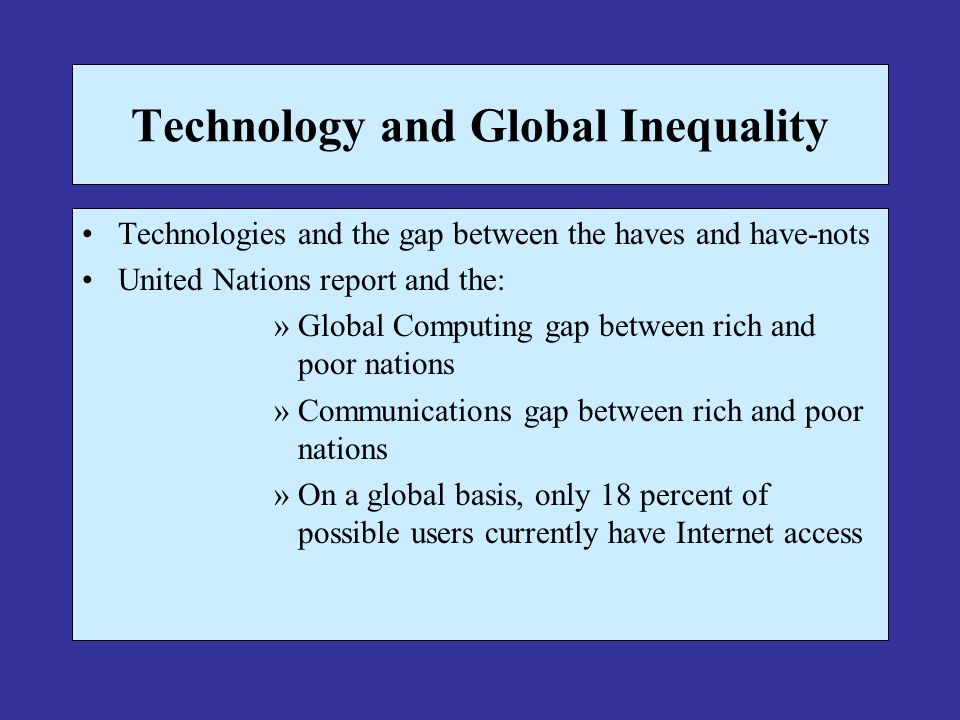 Technology and Global Inequality