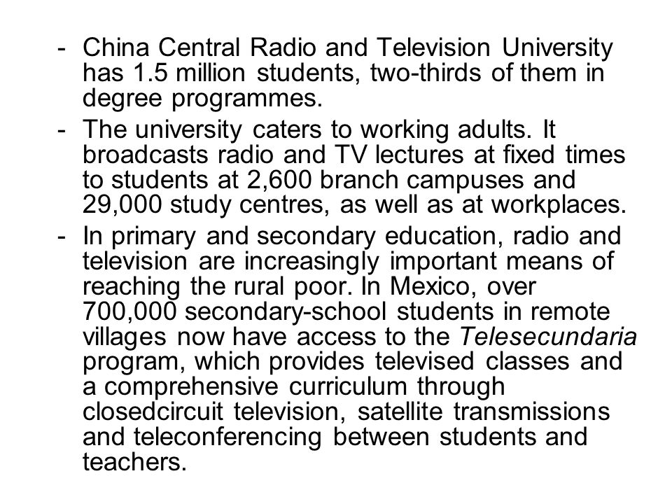 China Central Radio and Television University has 1