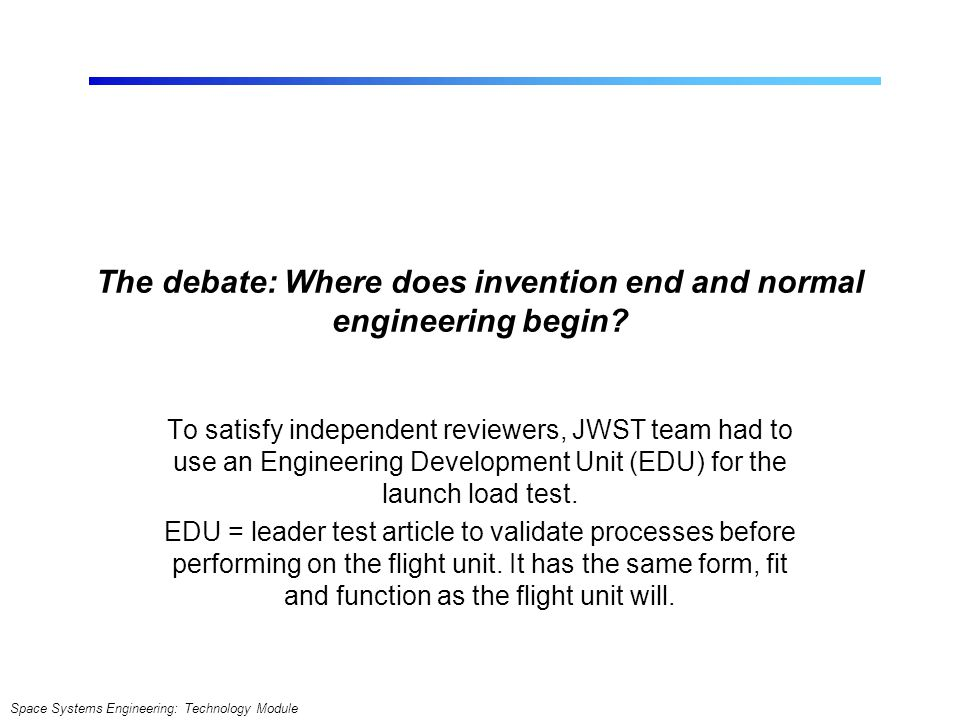 The debate: Where does invention end and normal engineering begin