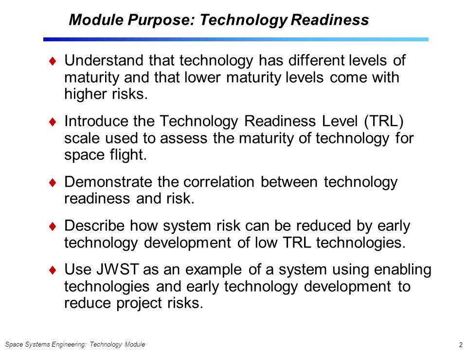 Module Purpose: Technology Readiness