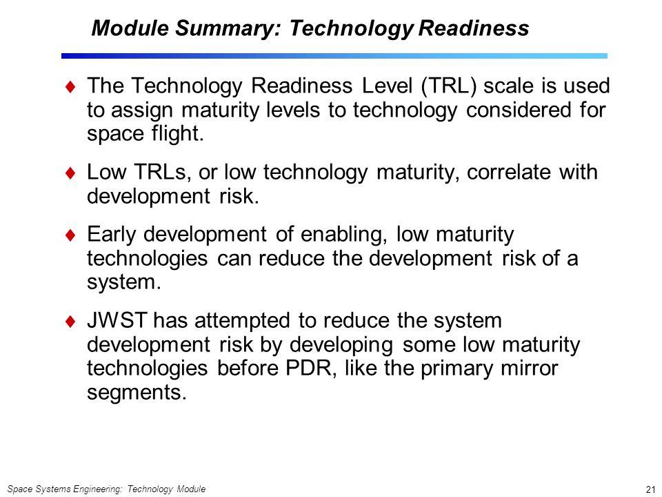 Module Summary: Technology Readiness