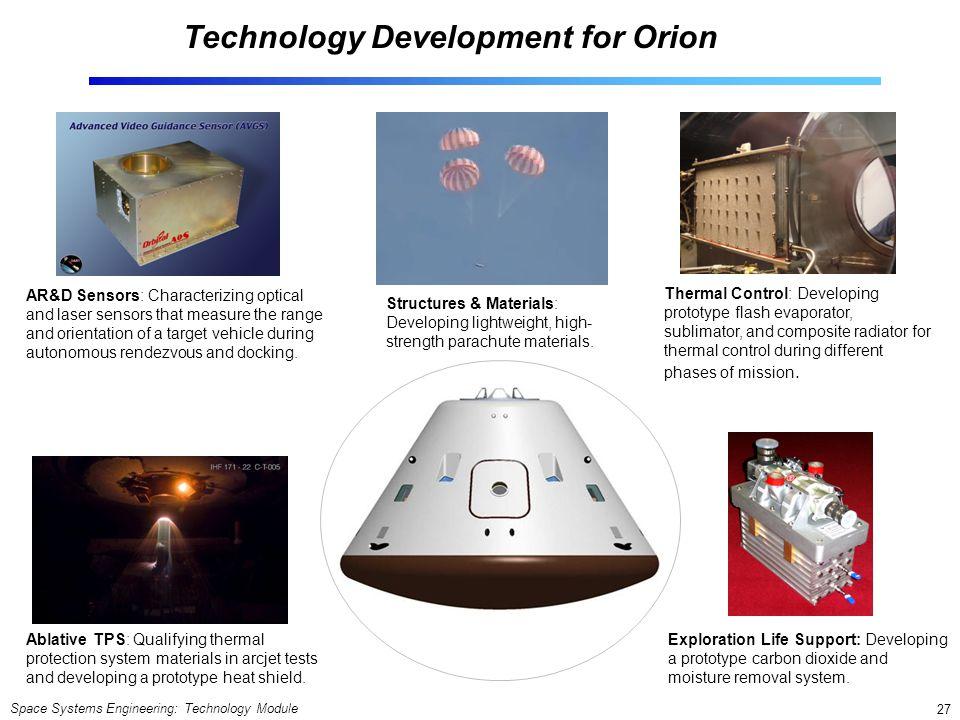 Technology Development for Orion