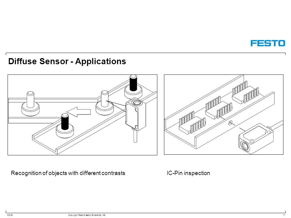Diffuse Sensor - Applications