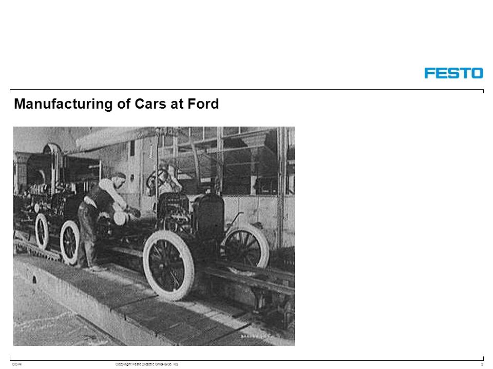 Manufacturing of Cars at Ford