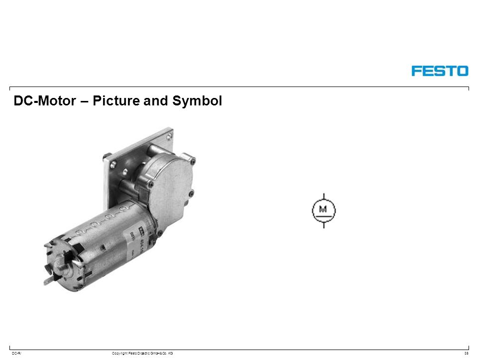 DC-Motor – Picture and Symbol