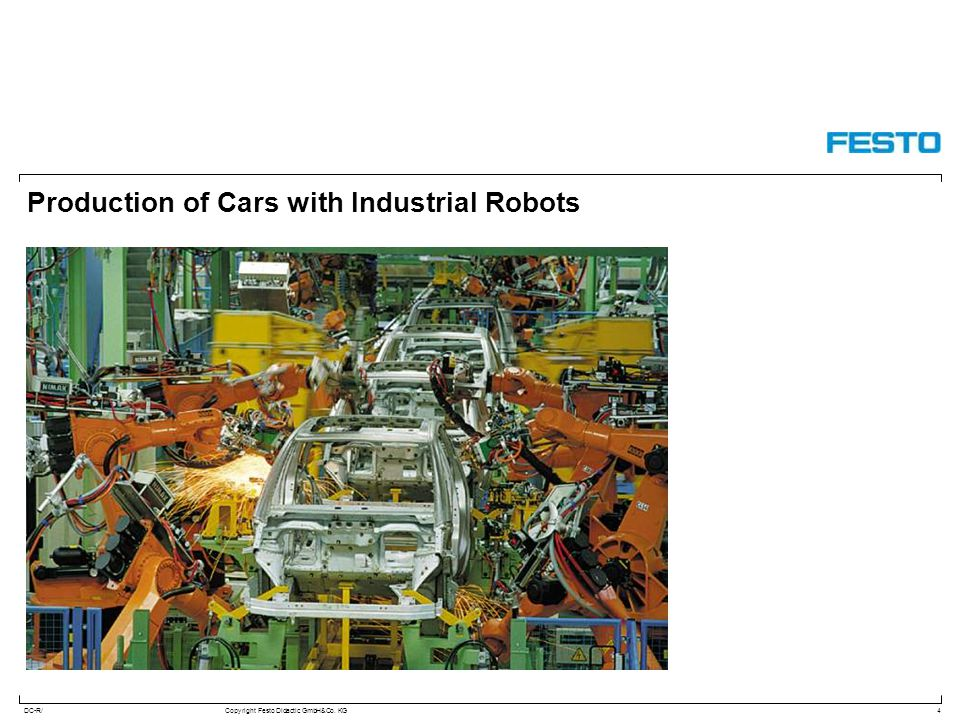 Production of Cars with Industrial Robots