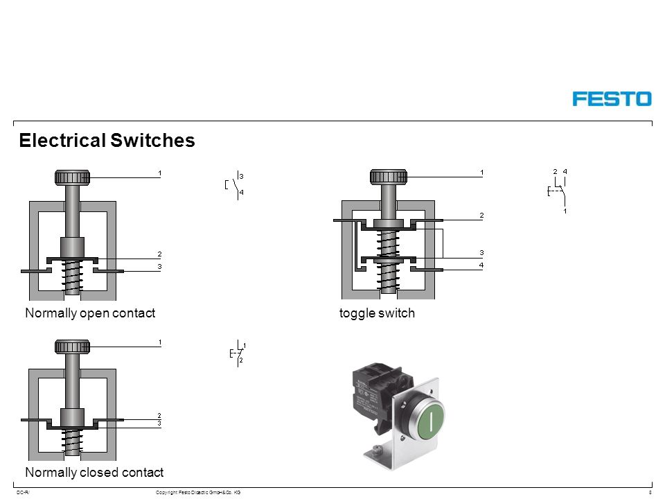 Electrical Switches Normally open contact toggle switch
