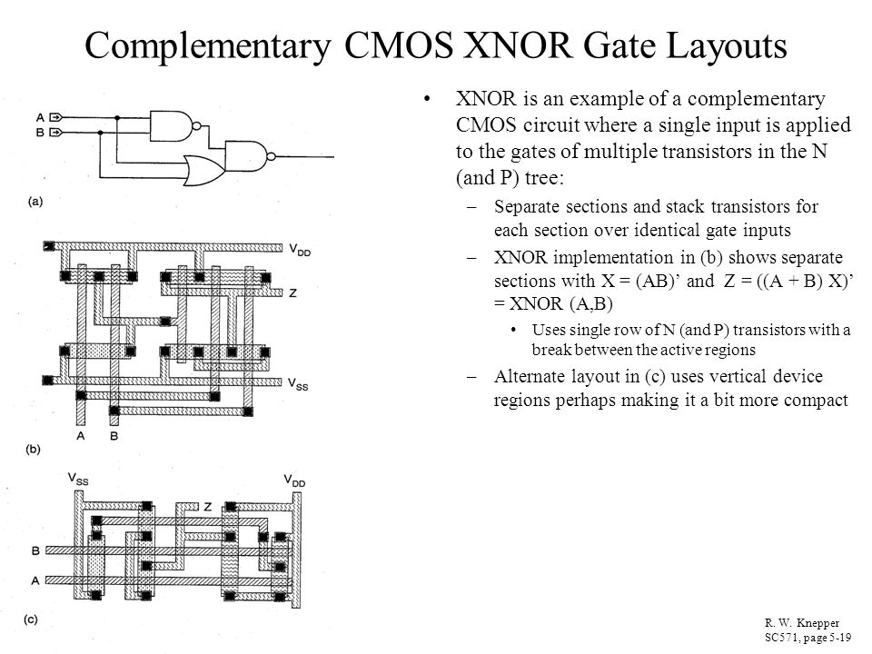 logic diagram of and gate circuit diagram of xnor gate cmos circuit and logic design* - ppt download #8