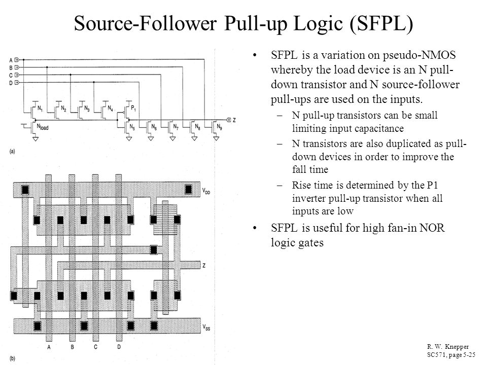 Source-Follower Pull-up Logic (SFPL)