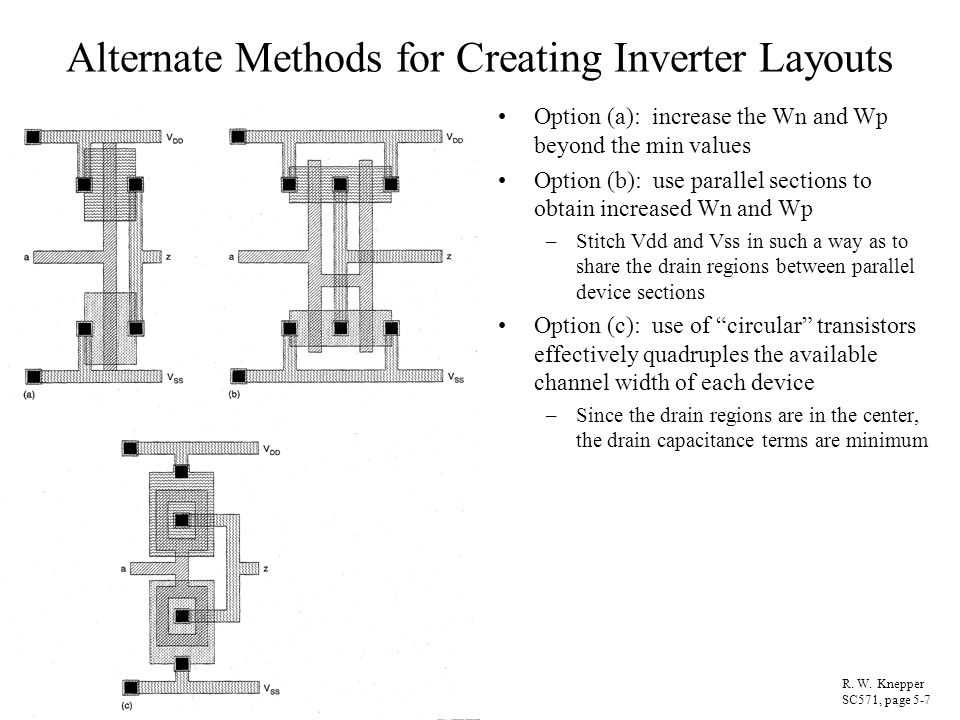 Alternate Methods for Creating Inverter Layouts