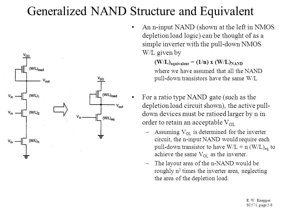 Generalized NAND Structure and Equivalent