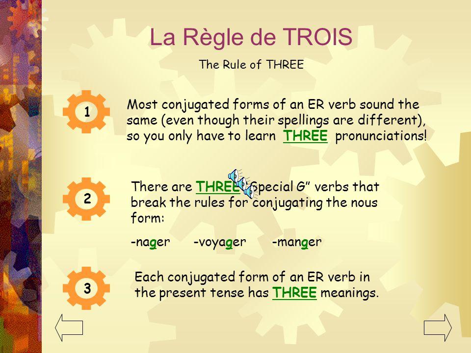 La Règle de TROIS The Rule of THREE.