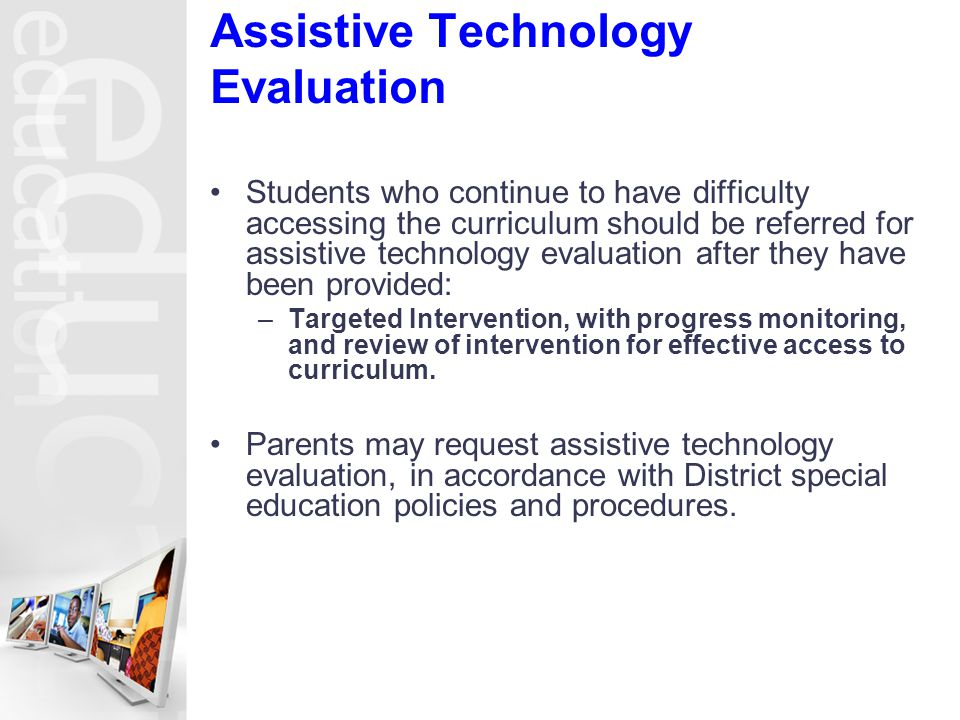 Assistive Technology Evaluation