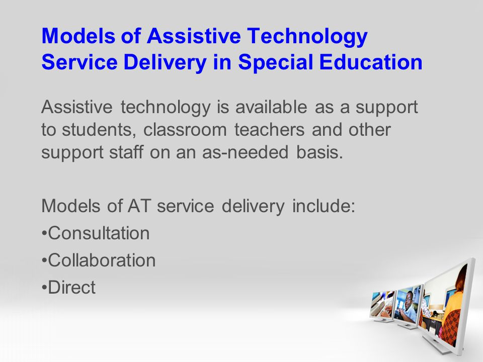 Models of Assistive Technology Service Delivery in Special Education