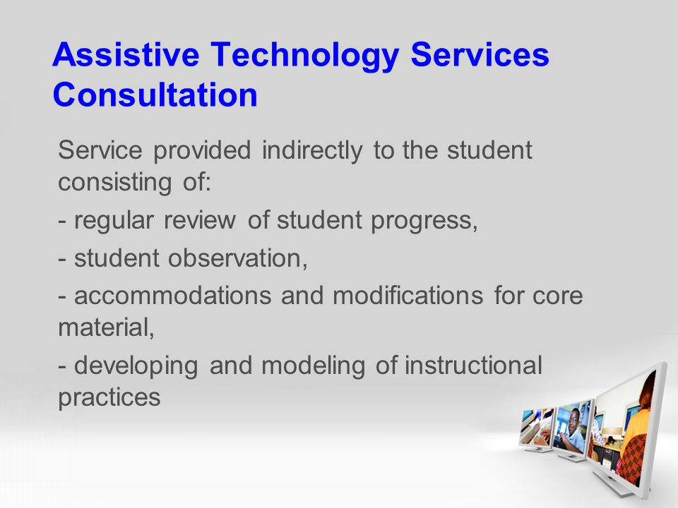 Assistive Technology Services Consultation