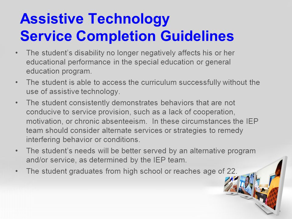 Assistive Technology Service Completion Guidelines
