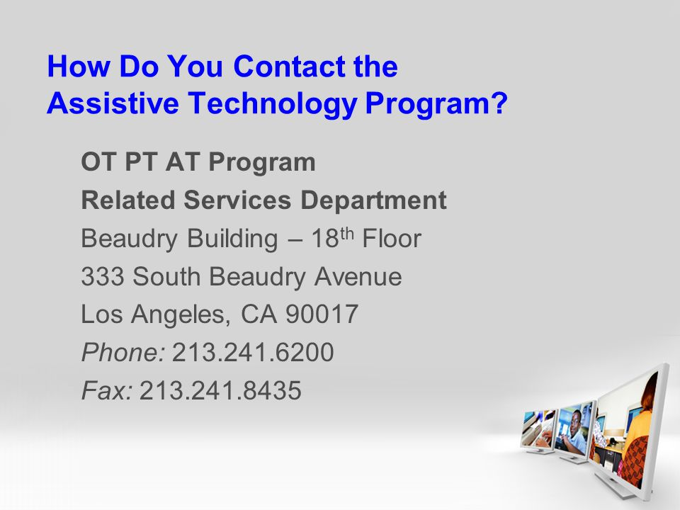 How Do You Contact the Assistive Technology Program