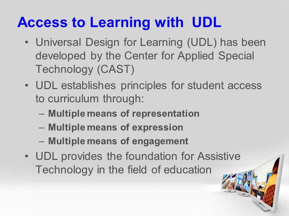 Access to Learning with UDL