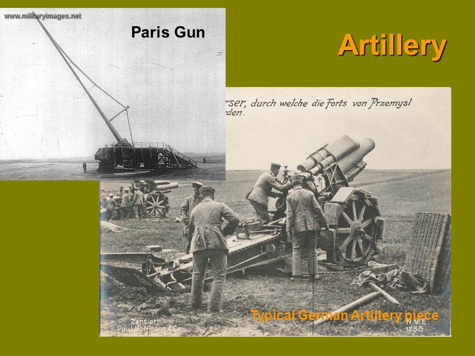 Artillery Paris Gun Typical German Artillery piece