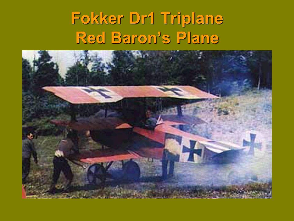 Fokker Dr1 Triplane Red Baron's Plane
