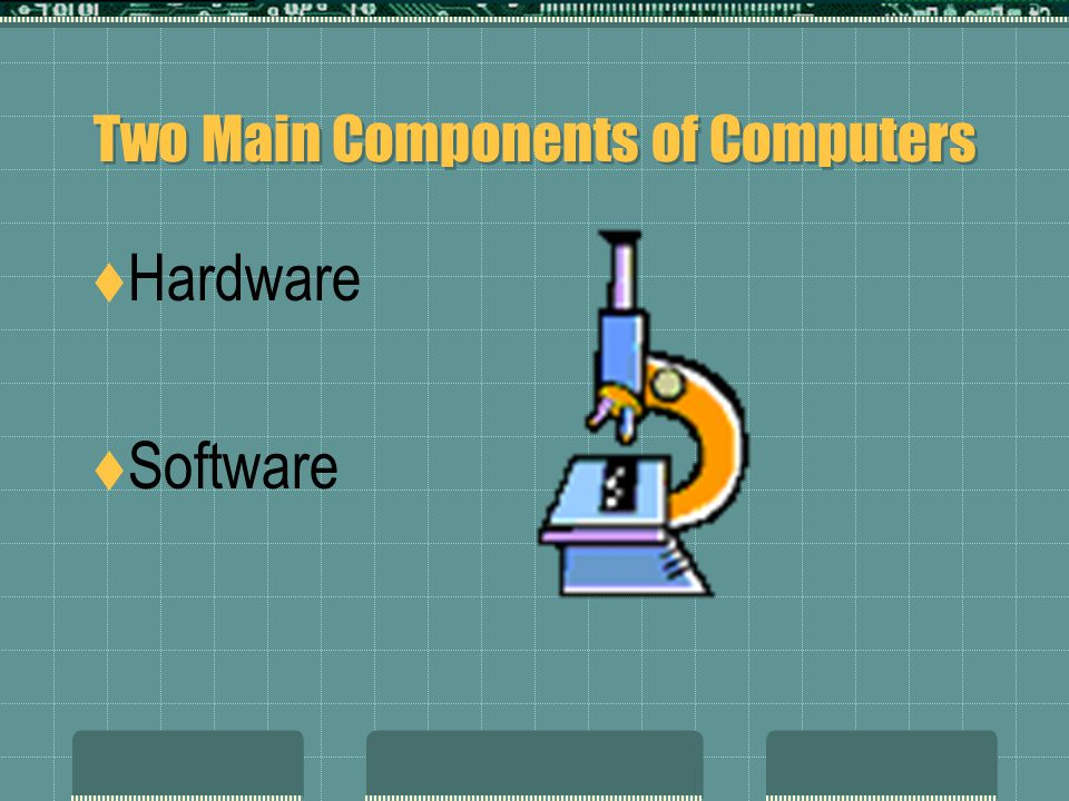 Two Main Components of Computers