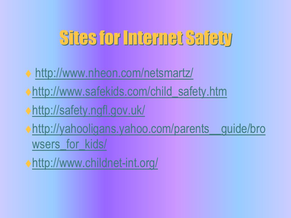 Sites for Internet Safety