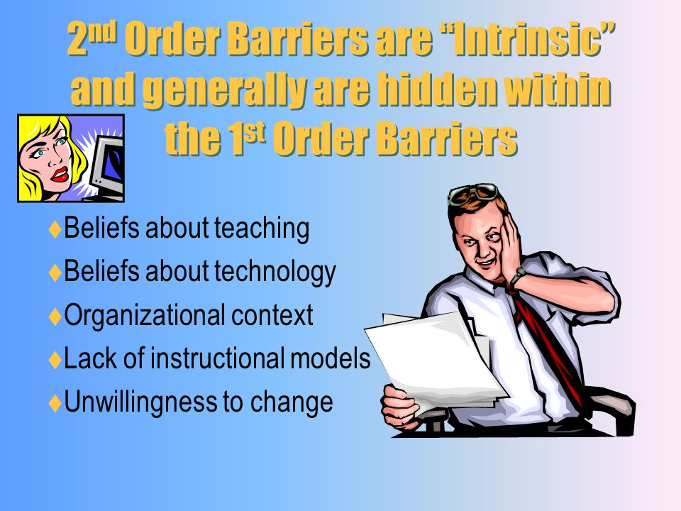 2nd Order Barriers are Intrinsic and generally are hidden within the 1st Order Barriers