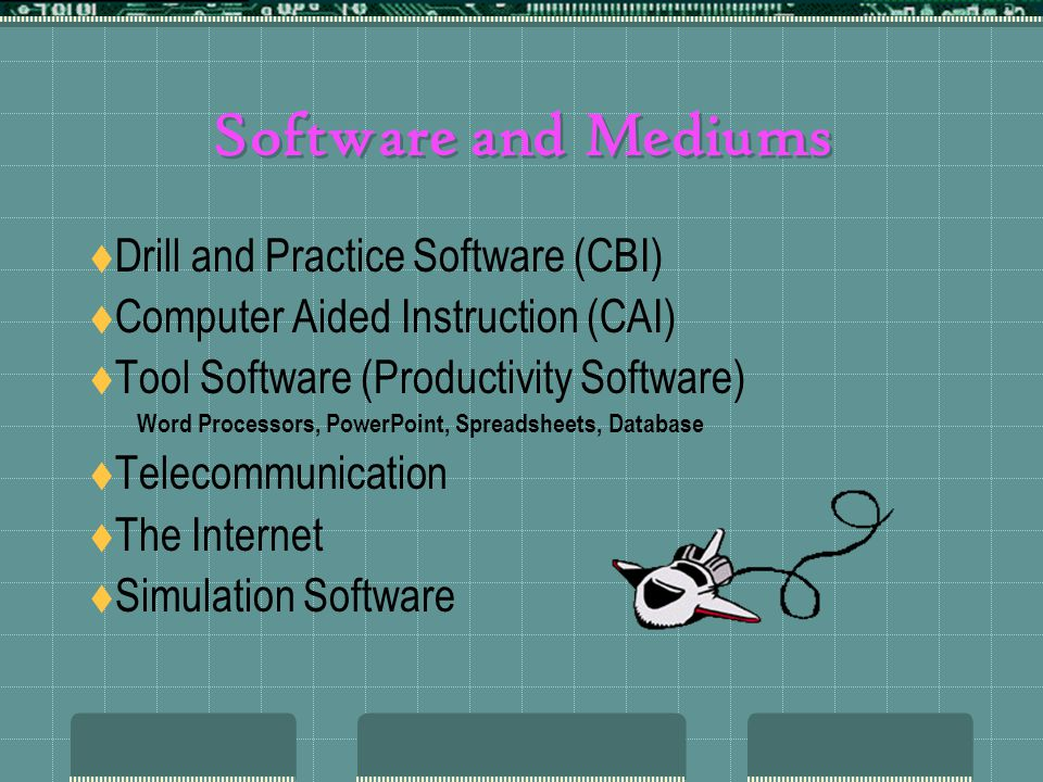 Software and Mediums Drill and Practice Software (CBI)