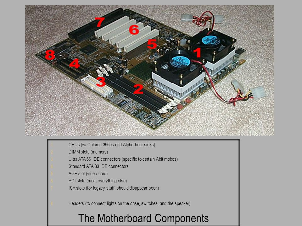 The Motherboard Components