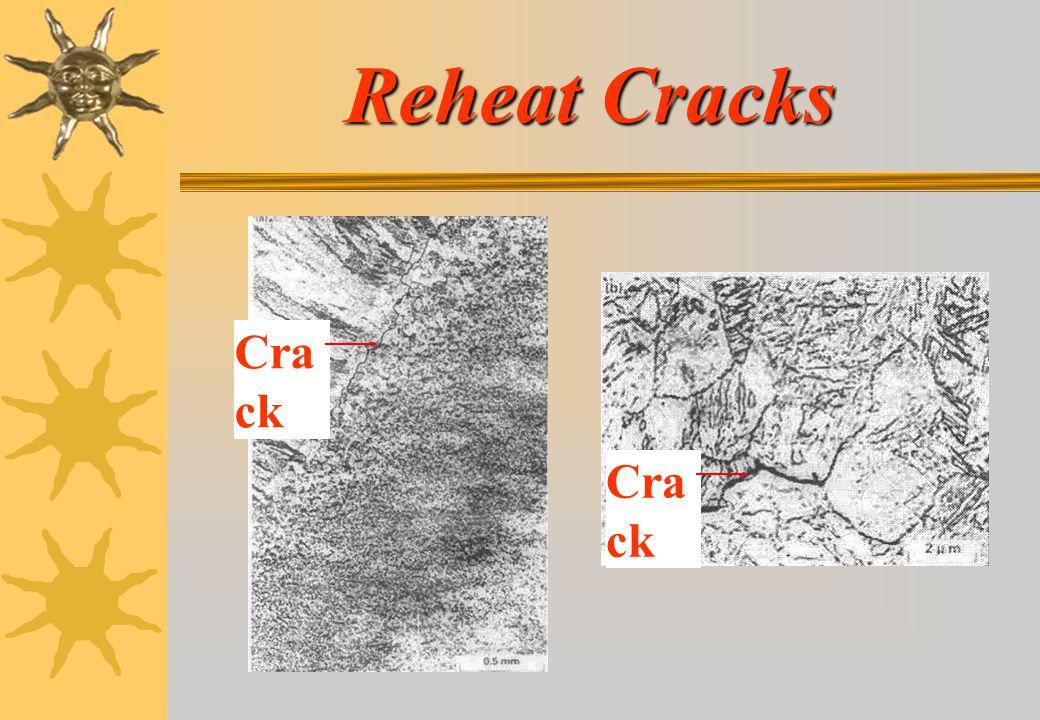 Reheat Cracks Crack Crack