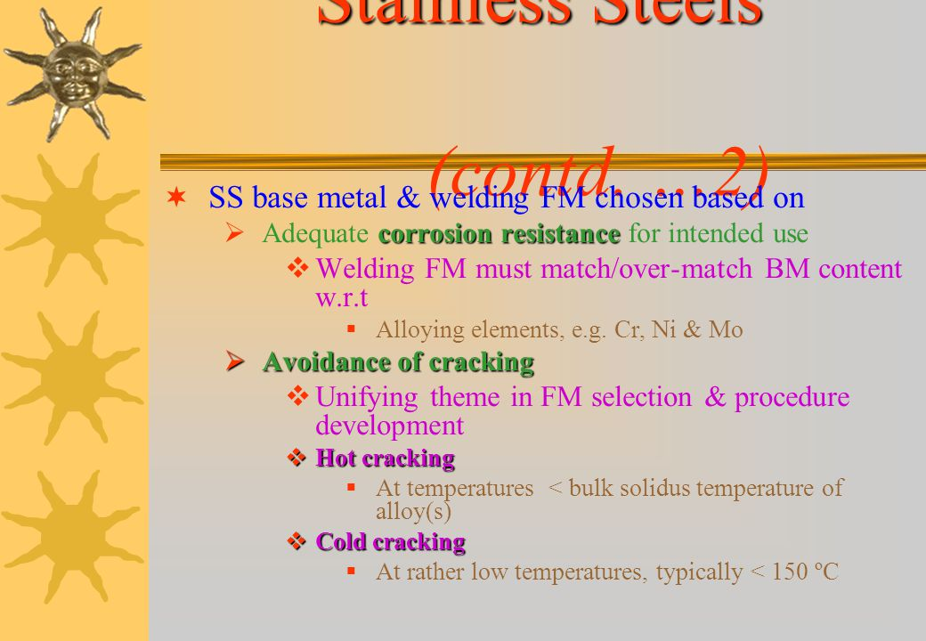 Stainless Steels (contd. …2)
