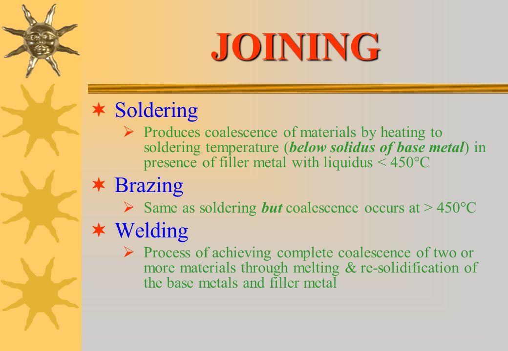 JOINING Soldering Brazing Welding